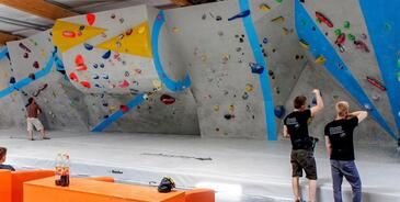 Die Boulderwelt ist auch Austräger von Wettkämpfen, © Foto: Boulderwelt