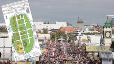 Der Oktoberfest Lageplan - wo finde ich was auf der Wiesn