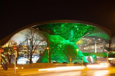 St. Patrick's Day 2014 - Greening München Die BMW Welt in grünem Licht ©D.I.F. e.V. / Fotograf Andreas Kotowski, © St. Patrick's Day 2014 - Greening München Die BMW Welt in grünem Licht ©D.I.F. e.V. / Fotograf Andreas Kotowski
