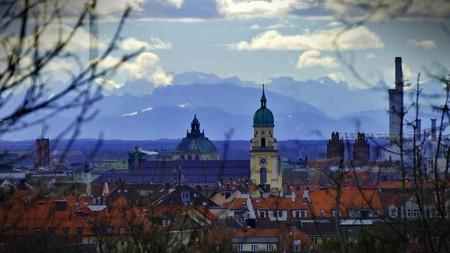 © Der sagenhafte Ausblick auf München vom Luitpoldhügel.