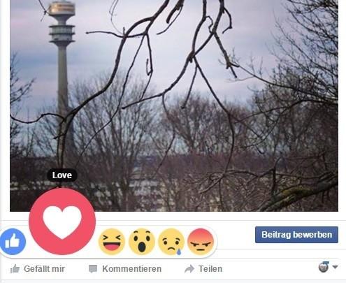 © Die neuen Like-Möglichkeiten mit Facebook Reactions