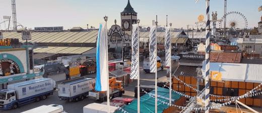 Wiesn-Webcam Live auf das Oktoberfest - Wirtsbudenstraße