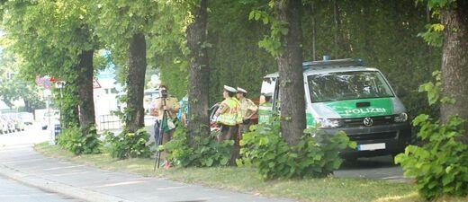 Die Polizei im Einsatz im Bayerischen Blitzermarathon., © Die Polizei im Einsatz: Kontrolle beim Blitzermarathon