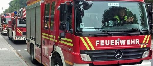 Die Feuerwehr auf Einsatzfahrt