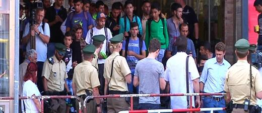 Ankommende Flüchtlinge am Münchner Hauptbahnhof