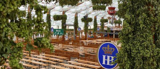 Hofbräu Festzelt oktoberfest wiesn leer