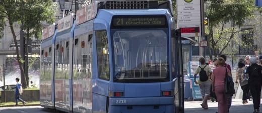 Eien Tram unterwegs in München , © Symbolfoto