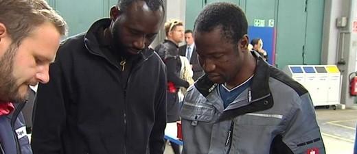 Asylbewerber in Bayernkaserne Lernwerkstatt, © Asylbewerber in der Bayernkaserne