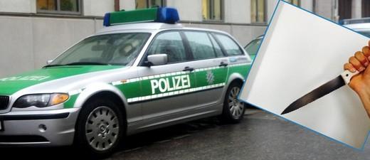Messer vor Polizeiauto, © Symbolbild.