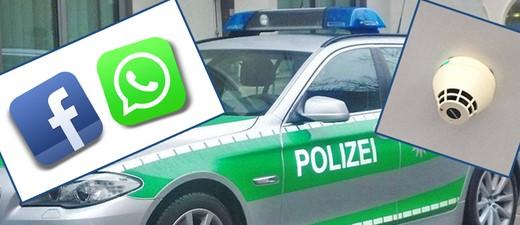 Rauchmelder Warnung auf Facebook und Whatsapp