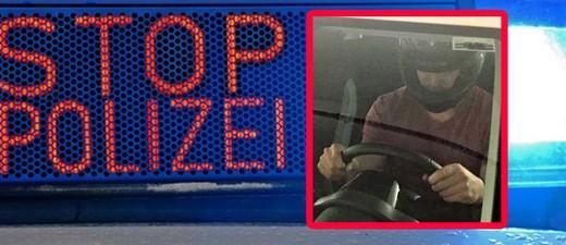© Der Fahrer trug während der Verfolgungsjagd einen Motorradhelm im Auto. Symbolfot