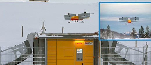 © Werden schon bald mit so einer Drohne, bzw. dem Paketkopter die Päckchen gebracht? Foto: Deutsche Post DHL