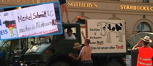 Demo der Milchbauern, © Seit Jahren bedroht der schlechte Milchpreis die Existenz der heimischen Bauern.