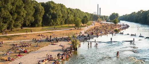 Baden an der Isar im Sommer
