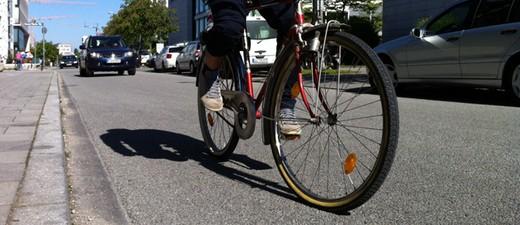 Fahrrad auf Straße