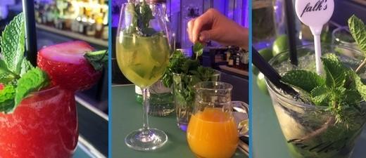 Die Cocktails: Strawberry Daiquiri - Aruba Sprizz - Mojito mit Matusalem Platino