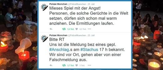 Münchner Polizei dementiert Falschmeldungen zum Münchner Amoklauf auf Twitter