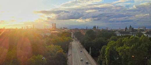 Panorama: Blick über München
