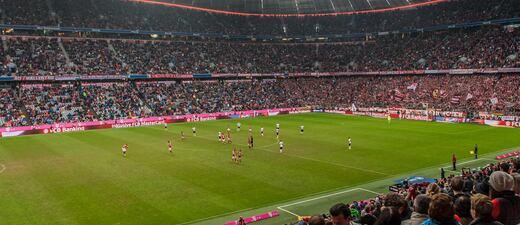 Der FC Bayern München in der Arena.