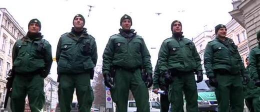 Einsatzkräfte der Polizei im Einsatz