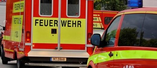 Die Feuerwehr-Rettung bei einem Einsatz.
