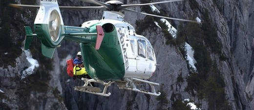 Hubschrauber der Bergrettung im Einsatz, © Symbolfoto