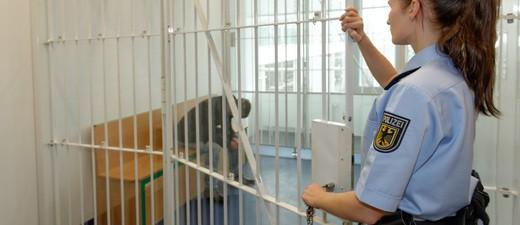 Haftzelle der Bundespolizei