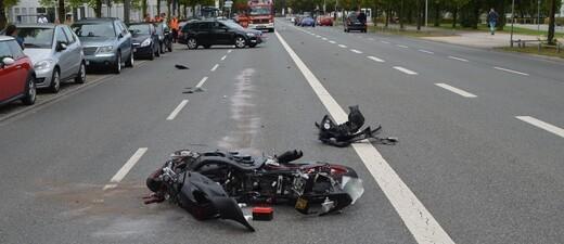 Foto eines Motorradunfalls, © Symbolfoto: Polizei München