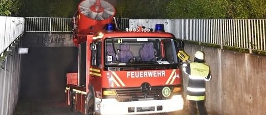 Feuer in Tiefgarage am Stiftsbogen, © Feuerwehr München