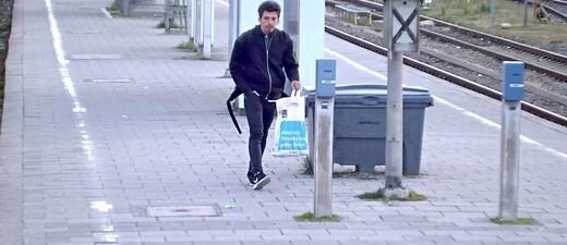 Täter auf dem Bahnsteig bei der S7, © Bundespolizei