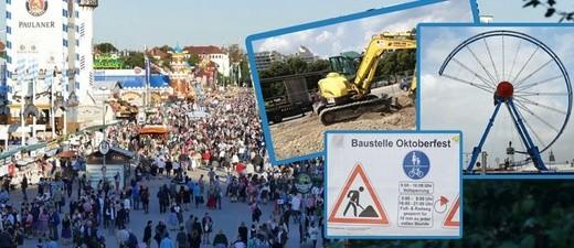 Oktoberfest 2017: Die Baustellen und Sperrungen während des Wiesn-Aufbaus