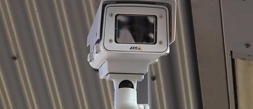 Eien Überwachungskamera in München