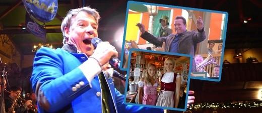 Patrick Lindner und Arnold Schwarzenegger auf dem Oktoberfest - Wiesn -Promis