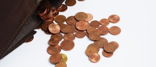 Ein paar übrige Cent im Geldbeutel
