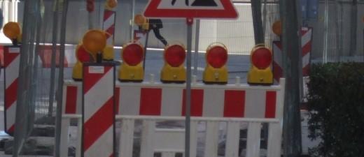 Baustelle, Absperrung, Straßenschild, Schild