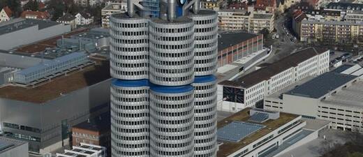Das BMW Gebäude von oben, © Foto: Zura aus München