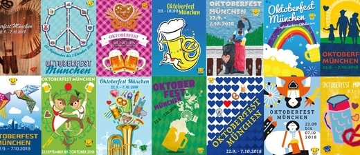 """Oktoberfest 2018: Die Vorschläge fürs Wiesn-Plakat, © Bilder: """"Referat für Arbeit und Wirtschaft"""""""