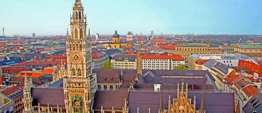 München Panorama. München von oben.
