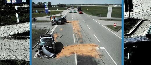 Unfall mit Gaffer bei Erding - Hallbergmoos, © Foto: Polizei