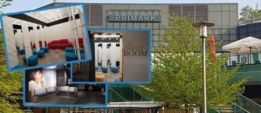 Die Schilder hängen shcon, die Einrichtung ist fast komplett - Der Primark im Münchner PEP, © Fotos innen: Primark / Foto Außenansicht: Fabienne Frauzem