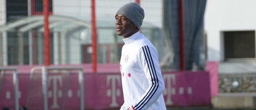 David Alaba beim FC-Bayern-Training