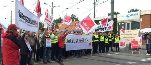Verdi Streik bei der MVG - Die streikenden Mitarbeiter