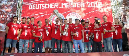 FC Bayern Basketball Meisterfeier, © Foto: Paulaner/sampics