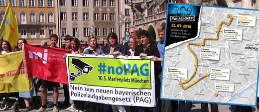 Ausgehetzt Demo gegen die CSU in München, © Foto: münchen.tv/Veranstalter