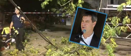 Söder-Auftritt im Augustinerkeller: Ast verletzt elf Menschen