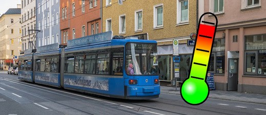 Rekordtemperaturen auch in Münchner Tram-Bahnen, Bussen und U-Bahnen..., © Symbolfoto