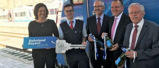 Einweihung der E-Lok mit Ilse Aigner am Hauptbahnhof München