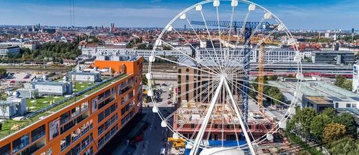 © So soll das Riesenrad im Werksviertel in München aussehen - Bild Maurer SE