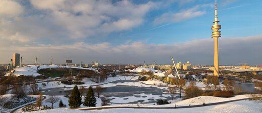 Der Münchner Olympiapark im Winter, © Bild: TOJE Photografie