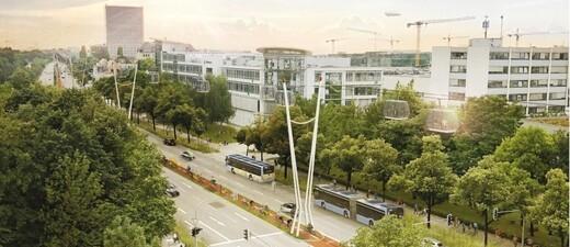 Seilbahn Frankfurter Ring München, © Visualisierung: Staatsministerium für Wohnen, Bau und Verkehr / Bauchplan